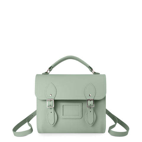 Barrel Backpack in Leather - Oasis Green