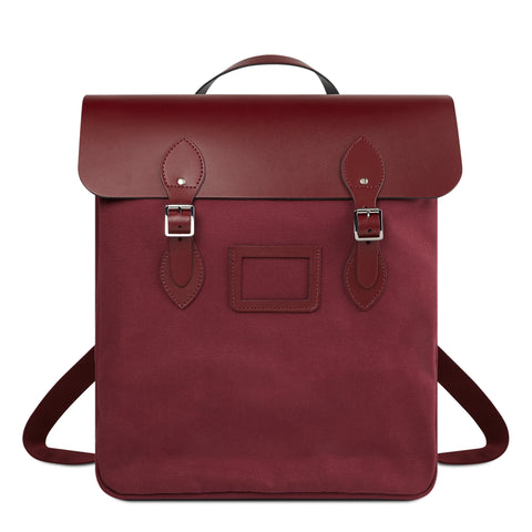 Canvas Steamer Backpack - Oxblood