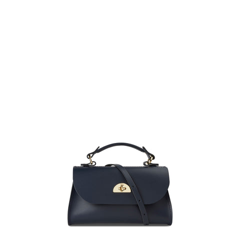 Mini Daisy Bag in Leather - Navy