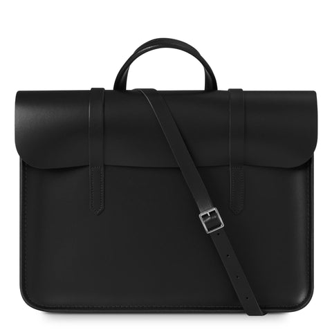 Folio Bag in Leather - Black