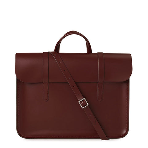 Folio Bag in Leather - Oxblood