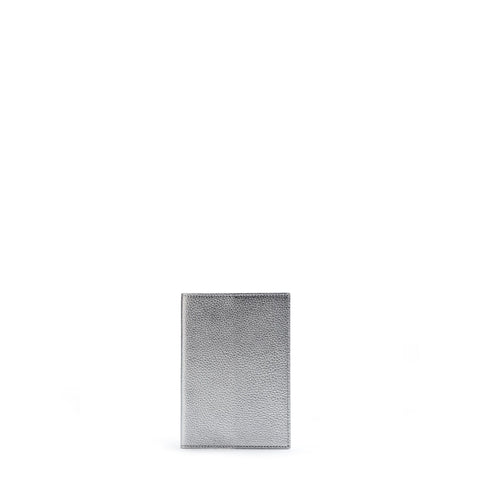 Passport Cover in Grain Leather - Silver Grain