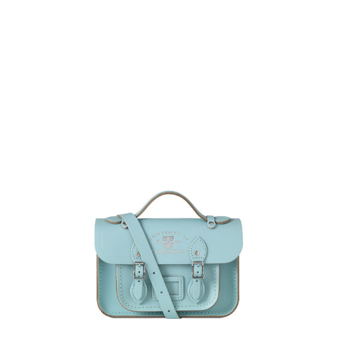 The University of Cambridge Mini Satchel - Cambridge Blue Saffiano