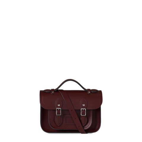 Magnetic Mini Satchel in Leather - Oxblood
