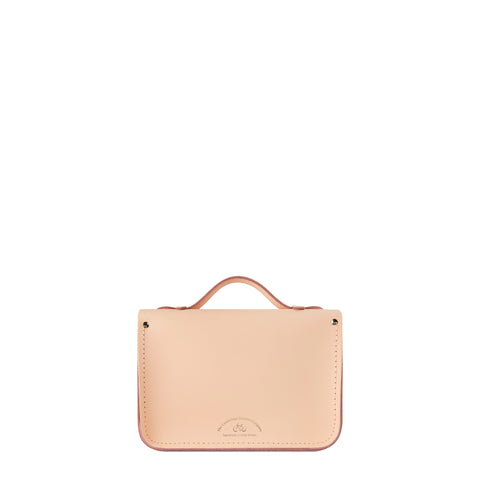 Magnetic Mini Satchel in Leather - Sunkissed