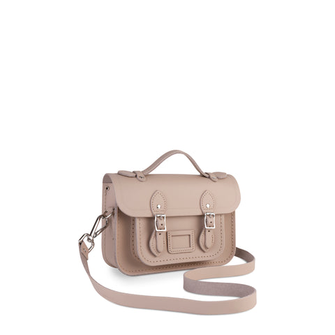 Magnetic Mini Satchel in Leather - Dusk Matte