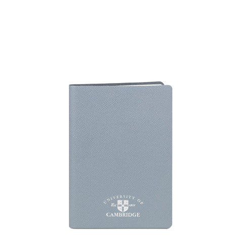 A5 University of Cambridge Notebook in Saffiano Leather - French Grey Saffiano