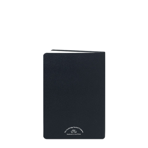 A5 University of Cambridge Notebook in Saffiano Leather - Navy Saffiano