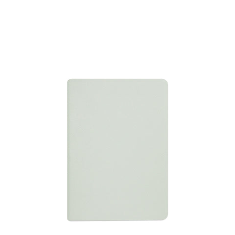 A5 Notebook in Leather - Matte Eggshell