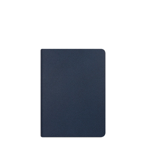 A5 Notebook in Saffiano Leather - Peacock