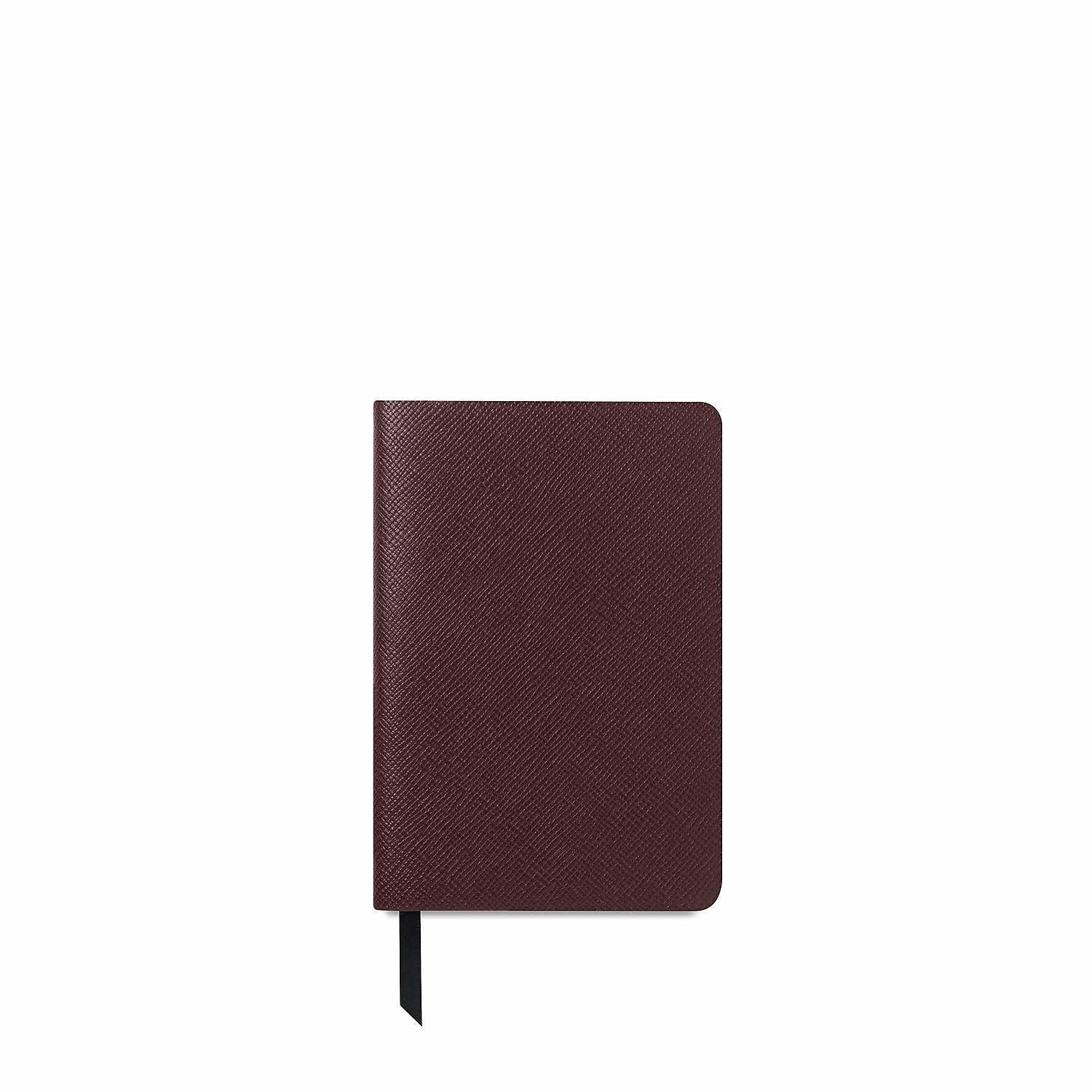 The A6 Notebook - Oxblood Saffiano