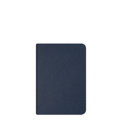 A6 Notebook in Saffiano Leather - Peacock