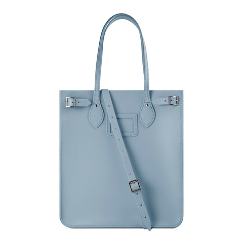 New North South Tote in Leather - French Grey