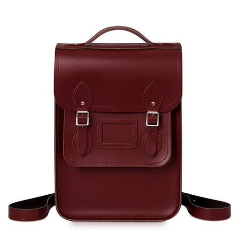 Portrait Backpack in Leather - Oxblood