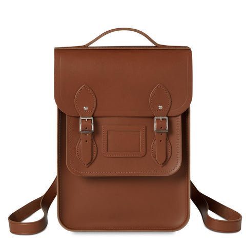 Portrait Backpack in Leather - Vintage