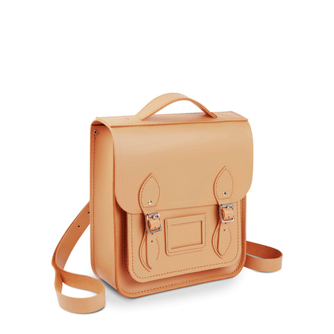 Small Portrait Backpack in Leather - Sand
