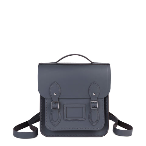 Small Portrait Backpack in Leather - Dapple Matte