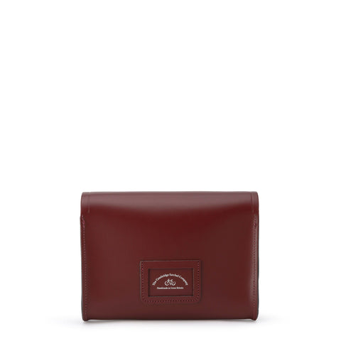 Large Push Lock in Leather - Oxblood