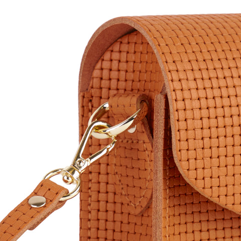 Push Lock in Leather - Canyon Lattice