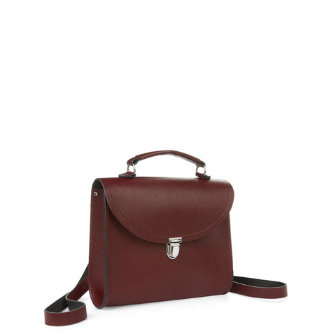 Poppy Backpack in Saffiano Leather - Oxblood Saffiano