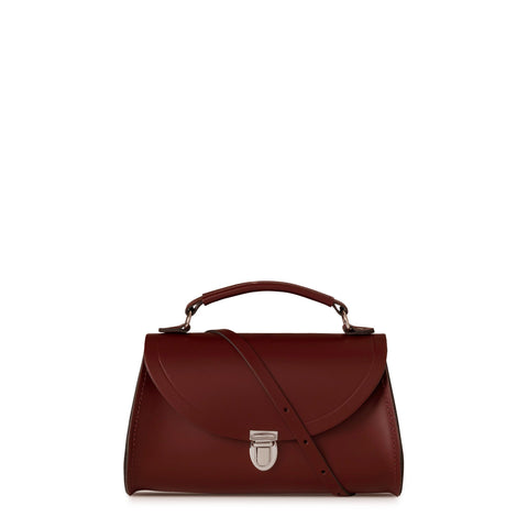 Mini Poppy Bag in Leather - Oxblood