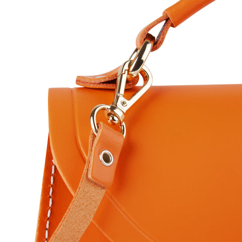 Mini Poppy Bag in Leather - Sunset & Clay