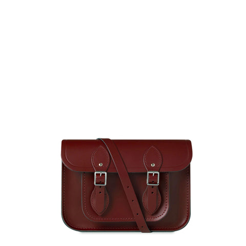 11 inch Magnetic Satchel in Leather - Oxblood