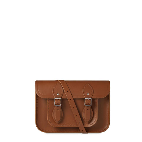 11 inch Magnetic Satchel in Leather - Vintage