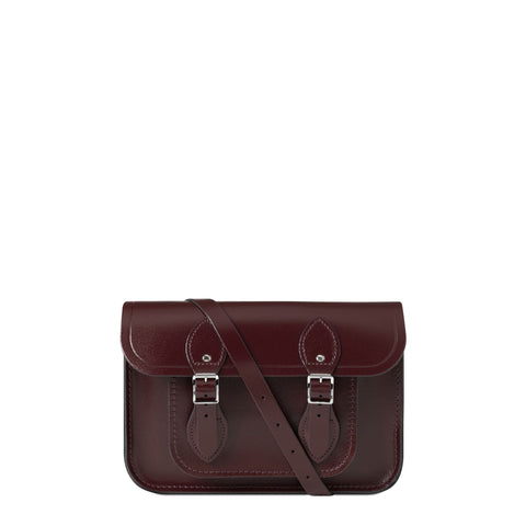 11 inch Magnetic Satchel in Leather - Oxblood Patent