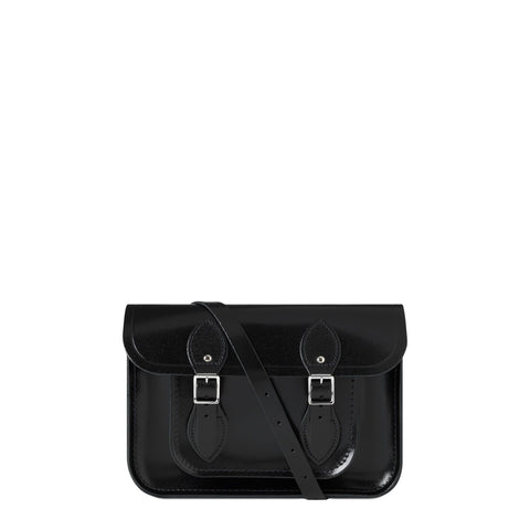11 inch Magnetic Satchel in Leather - Black Patent