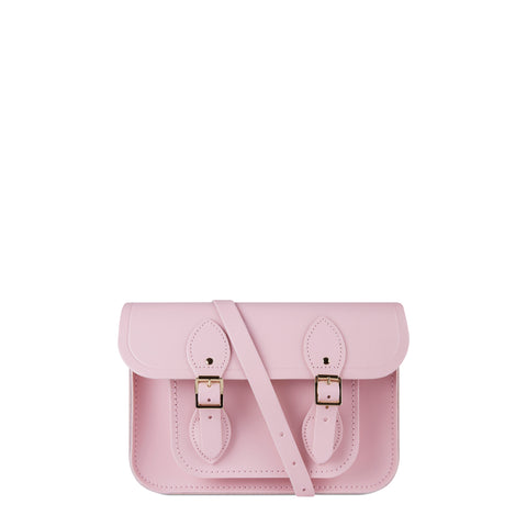 11 Inch Magnetic Satchel in Leather - Light Lilac