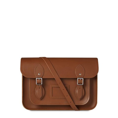 13 inch Magnetic Satchel in Leather - Vintage