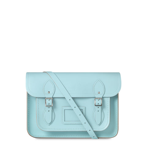 University of Cambridge 13 inch Classic Satchel in Leather - Cambridge Blue