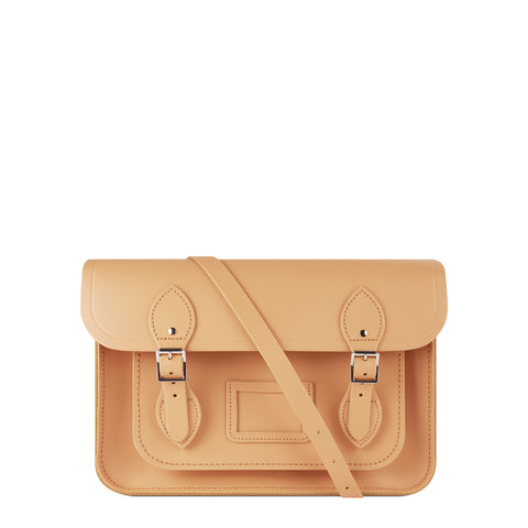 13 inch Magnetic Satchel in Leather - Sand