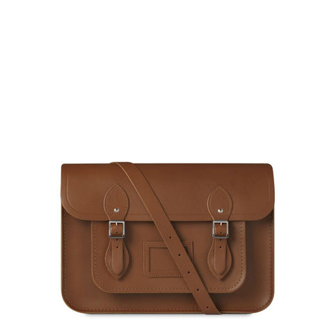 14 inch Magnetic Satchel in Leather - Vintage