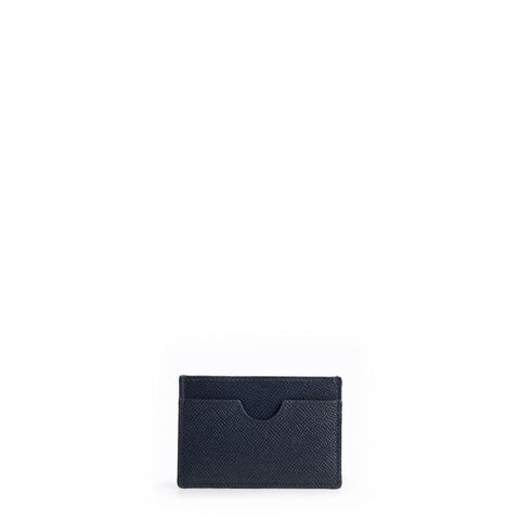 The Card Case - Navy Saffiano