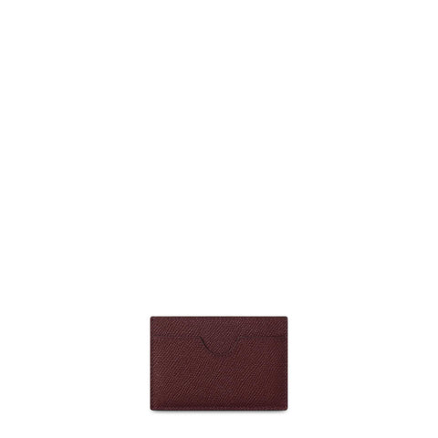 Card Case in Saffiano Leather - Oxblood