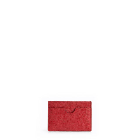 The Card Case - Red Saffiano