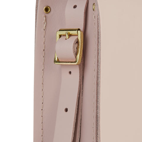 Large Saddle Bag in Leather - Dusk Matte with Brass Rivets Strap