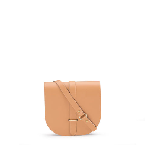 Saddle Bag in Leather - Sand