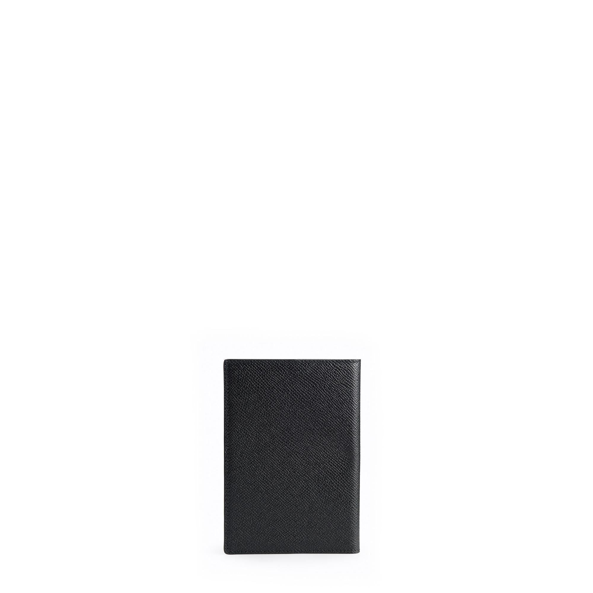 Passport Cover in Saffiano Leather - Black Saffiano