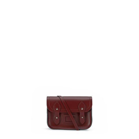 Tiny Satchel in Leather - Oxblood