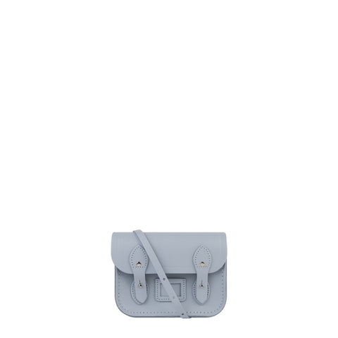 Tiny Satchel in Leather - Periwinkle Blue