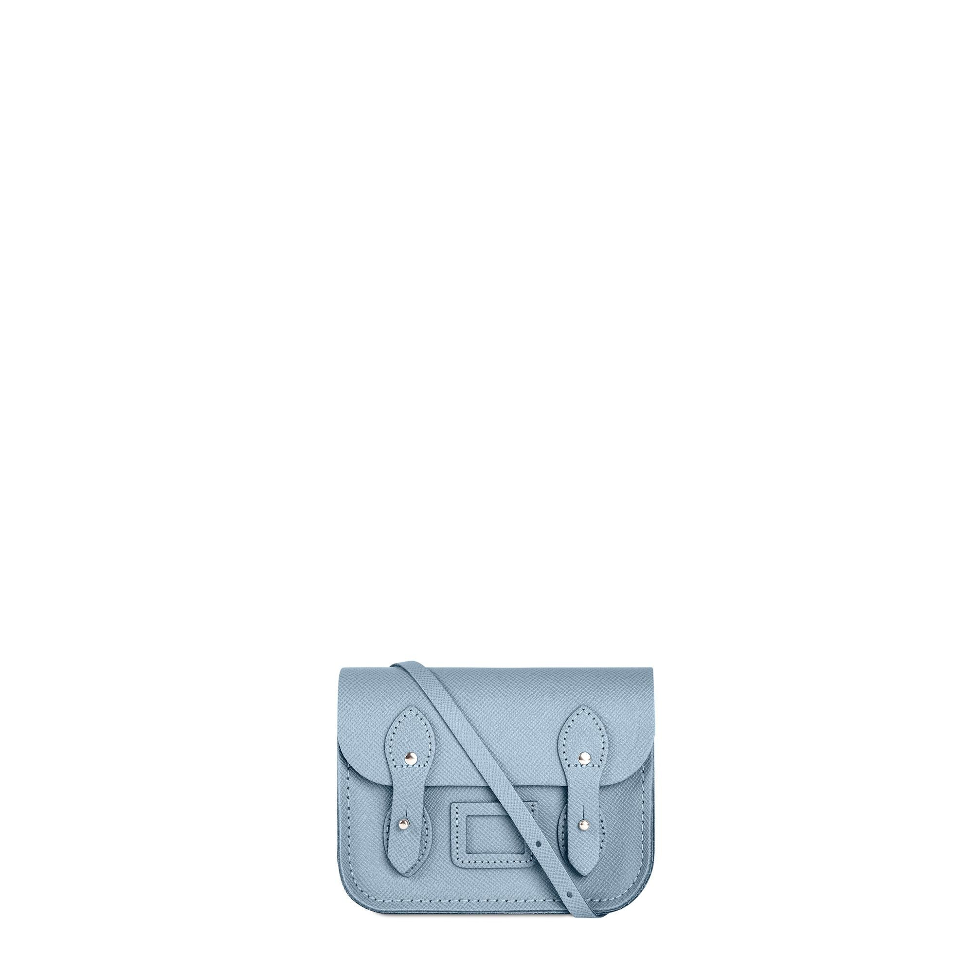 Tiny Satchel in Leather - French Grey Saffiano