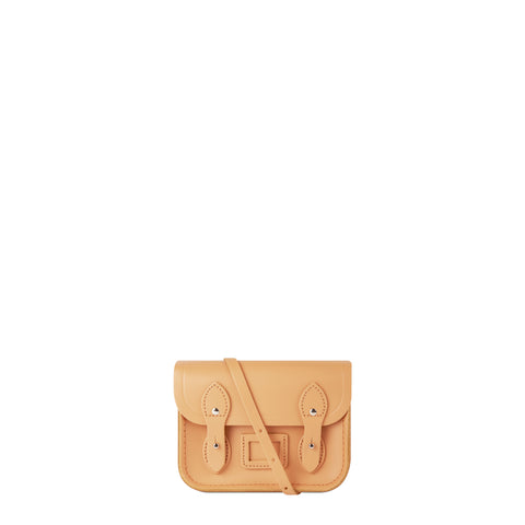 Tiny Satchel in Leather - Sand
