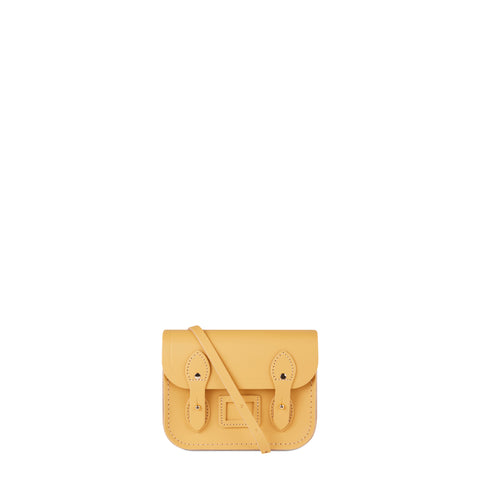 Tiny Satchel in Leather - Matte Indian Yellow