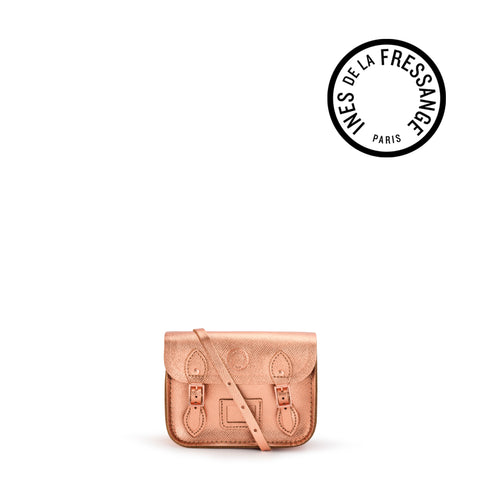 Ines De La Fressange Tiny Satchel in Saffiano Leather - Copper
