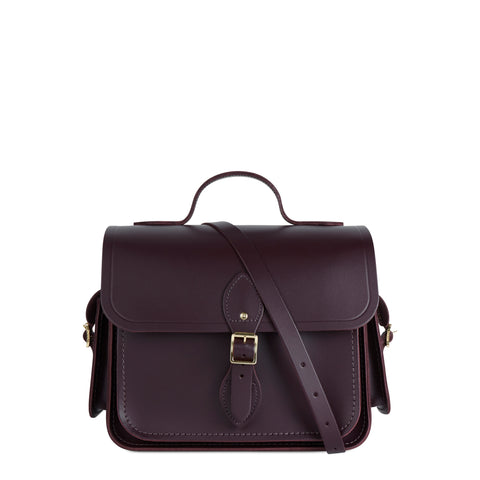 Large Traveller Bag with Side Pockets in Leather - Juniper