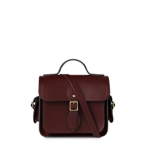 Traveller Bag with Side Pockets in Leather - Oxblood