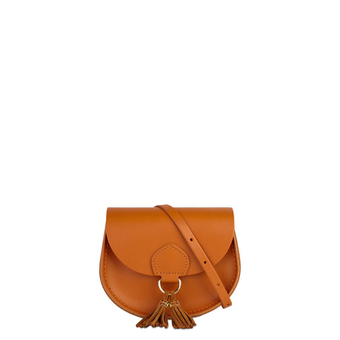 Mini Tassel Bag in Leather - Canyon Split & Vintage Suede
